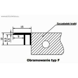 Obramowanie typ f do vk15 - 29/280 , aluminium naturalne marki Verano