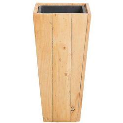 Beliani Doniczka drewniana prostokątna 24 x 24 x 50 cm larisa (4251682214100)