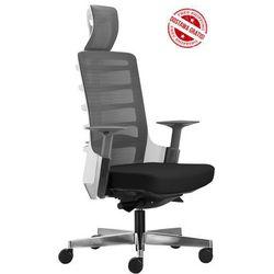 Fotel biurowy Unique SPINELLY 999W - Biały, wysuw siedziska + 21 kolorów siedziska, Unique