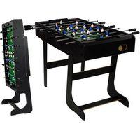 Piłkarzyki stół piłkarski składany 121 x 101 x 79cm BELFAST czarne