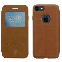 Baseus - Apple iPhone 7 - etui na telefon Baseus Simple Series Leather Case - brązowe