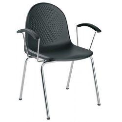 Krzesło amigo arm - do poczekalni i sal konferencyjnych, konferencyjne, na nogach, stacjonarne marki Nowy styl