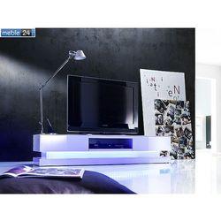 Stolik pod tv biały z oswietleniem LED PAULINA 180/36 cm