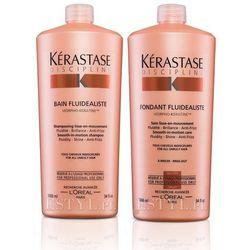 fluidealiste - zestaw dyscyplinujący włosy: szampon + odżywka 2x1000ml wyprodukowany przez Kerastase