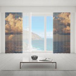 Zasłona okienna na wymiar komplet - RAINSTORM AT OCEAN