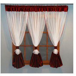 Kasandra Gotowa firanka 150x400 woalowa do salonu lub pokoju