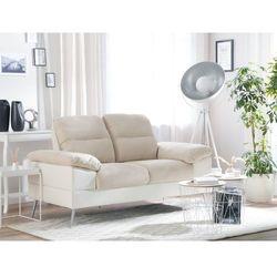 Sofa dwuosobowa tapicerowana beżowa TJOME, kolor beżowy