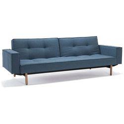 sofa splitback z podłokietnikami niebieska 525 nogi jasne drewno stem - 741010020525-741007020-11-1-2 od producenta Innovation istyle