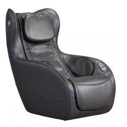 Vente-unique Fotel do masażu adrastee ze skóry syntetycznej — opcja bluetooth — antracytowy