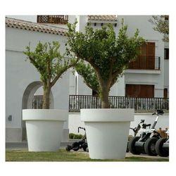 Sofa.pl New garden donica magnolia 90 solar biała - led, sterowanie pilotem