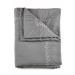 Narzuta na łóżko z haftem szary marki Bonprix