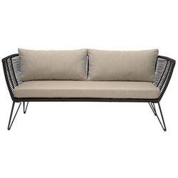 Sofa metalowa czarna