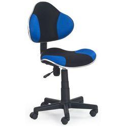 Fotel młodzieżowy Liber - niebiesko-czarny