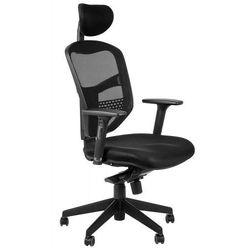 Fotel biurowy gabinetowy z wysuwem siedziska HN-5038/CZARNY krzesło biurowe obrotowe