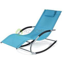 Fotel bujany leżak BERGAMO niebieski z kategorii Leżaki ogrodowe