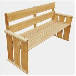 Drewniana ławka ogrodowa Uter - brązowa, vidaxl_43259
