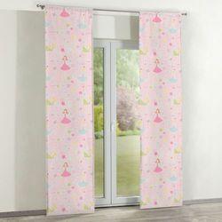 Dekoria Zasłony panelowe 2 szt., pastelowe wzory na różowym tle, 60 × 260 cm, Little World