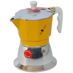 Kawiarka na indukcję Top Moka TOP 2 filiżanki - srebrno żółta