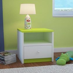 Kocotkids Szafka nocna do sypialni, babydreams, 40 cm, biały, zielony