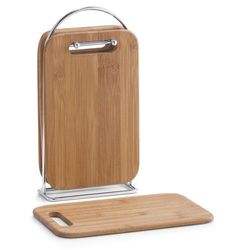 4 bambusowe deski kuchenne + stojak w komplecie, ZELLER