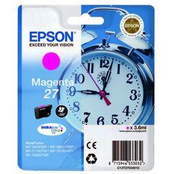 Epson  oryginalny ink c13t27034010, 27, magenta, 3,6ml, epson wf-3620, 3640, 7110, 7610, 7620