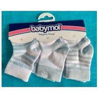 Skarpetki niemowlęce 0-6 mies. Błękitne 3 pary, 6A47-4149B