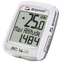 04150 Licznik rowerowy SIGMA BC 14.12 ALTI przewodowy, PL MENU, wysokościomierz (4016224041503)