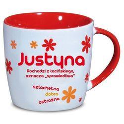 Nekupto, Justyna, kubek ceramiczny imienny, 330 ml