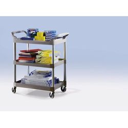 Uniwersalny wózek serwisowy, nośność całk. 90 kg, dł. x szer. x wys. 860x470x960 marki Rubbermaid