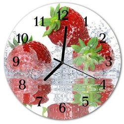 Zegar ścienny okrągły Truskawki