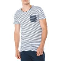 Tom Tailor T-shirt Niebieski Biały S, 1 rozmiar