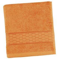 ręcznik kąpielowy kamilka pasek pomarańczowy, 70 x 140 cm marki Bellatex
