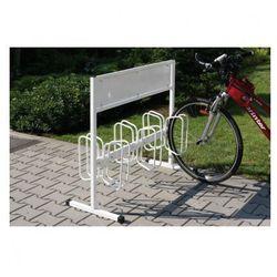 Dwustronny stojak na rowery z powierzchnią na reklamę od producenta B2b partner