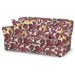 Dekoria  pokrowiec na sofę tomelilla 2-osobową nierozkładaną, żółto-brązowe kwiaty, sofa tomelilla 2-osobowa, wyprzedaż do -30%