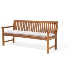 Poducha na ławkę TOSCANA/JAVA w szaro-beżowe zygzaki 169 x 50 x 5 cm