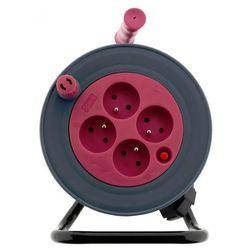 przedłużacz bębnowy 15 m - różowy marki Moveto