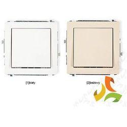 Wyłącznik pojedynczy jednobiegunowy KARLIK DECO biały, beżowy - produkt z kategorii- świetlówki
