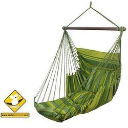 Fotel hamakowy szeroki z podstawką, zielony groszek HC-FR