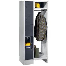 Eugen wolf System garderob ze schowkami, 5 przedziałów po lewej stronie, 5 wieszaków na ubr