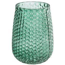 Elegancki wazon szklany, zielony marki 4home