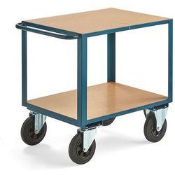 Wózek warsztatowy, bez hamulców, 2 koła skrętne, 600 kg, 800x600 mm