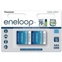 8 x akumulatorki Panasonic Eneloop Ocean Colors R03/AAA 800mAh (blister) (5410853058915)