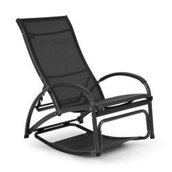 Blumfeldt beverly wood leżak fotel bujany aluminium, czarny (4060656152894)
