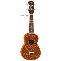 Luna  ukulele sopranowe - peace love