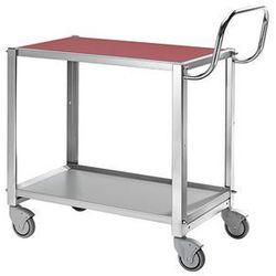 Wózek stołowy, nośność 100 kg, dł. x szer. x wys. 765x450x740 mm, ogumienie pełn marki Kongamek