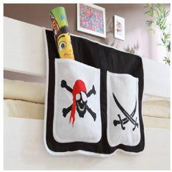 Ticaa kindermöbel Ticaa organizer do łóżek piętrowych pirat kolor biało-czarny