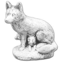Figura ogrodowa betonowa lisica z młodymi 45cm