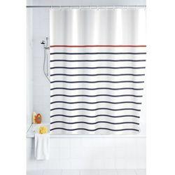 Zasłona prysznicowa, tekstylna, Marine White, 180x200 cm