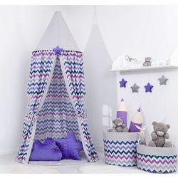 Namiot wiszący dla dzieci zygzak fiolet / popiel marki Mamo-tato