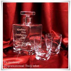 Luksusowy komplet do whisky: karafka + 6 szklanek z opcją graweru - produkt z kategorii- Na parapetówkę